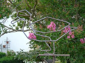 tuteur sihouette canard, acier, hauteur : 1m80